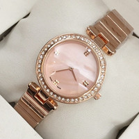 Wholesale black shell jewelry - 2018 Top fashion brand watch bracelet women sexy rose gold wristwatch free shipping lady party watches hot sale popular Shell Face