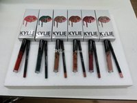 Wholesale orange lipgloss - kylie cosmetics Christmas Lipgloss lip liner Lip Kit kylie jenner 20th Birthday Vacation Fall Collection Liquid Matte Lipsticks Lip Gloss