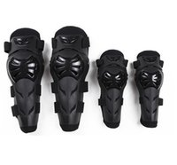 Wholesale Motorcycle Bikes - 4pcs set 4pcs Motorcycle Riding Protector Motorbike Racing Motocross Off-Road Bike Knee & Elbows Pads Protective Gear GGA195 10sets