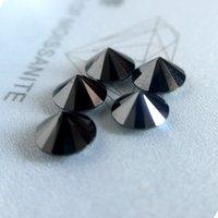 муассанит блестящий оптовых-Круглый бриллиант огранки 1.0 карат карат 6.5 мм черный муассанит свободный камень VVS1 отлично вырезать класса тест положительный лаборатории Алмаз