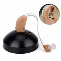 amplificador auxiliar de ouvido recarregável venda por atacado-2018 recarregável o aparelho auditivo s-108 Medico ajudas de ouvido mini bege mini amplificador de som frete grátis