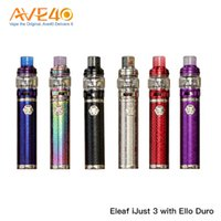 Discount ijust battery Authentic Eleaf Ijust 3 Stater Kit With Eleaf iJust 3 battery 3000mAh & Ello Duro atomizer 6.5ml HW Coils