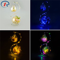 Wholesale Holiday Fragrances - Wholesale- ZjRight S shape decoration glass colorful LED light string Interior Fragrance Eternal Flower Xmas Holiday kid's birthday gifts