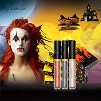 ingrosso occhi lucidi-NICEFACE Halloween Limited Edition 3 Pack Glossy Eye Liquid Eye Shadow facile da indossare Set di trucco luccicante