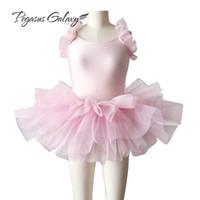 menina, cisne, tutu venda por atacado-Swan Lake Ballet Costumes Ballerina Vestido Crianças Tutus de Balé Profissional Collant Tutu Dança Vestido Roupas Meninas