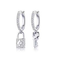 plata de ley para estampación al por mayor-Nueva marca de diseñador de plata esterlina Pendientes de Dangel Pendientes de lujo de Louis con sellos Regalo de joyería de marca famosa de lujo por amor