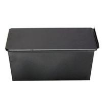Wholesale tin cake pans wholesale - Rectangle Bakeware Nonstick Box Large Loaf Tin Kitchen Pastry Bread Cake Baking Black