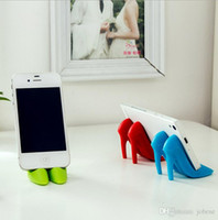 Wholesale Mobile Phone Watch Tv - T creative high heels mobile phone stent lazy bedside watching TV mobile phone fixed frame creative silicone