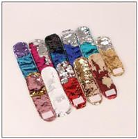 ingrosso fascino della sirena per i braccialetti-11 colori paillettes braccialetto sirena polsino polsino paillettes bracciali donne gioielli di fascino ragazza bomboniere sirena braccialetto cca8618 50 pz