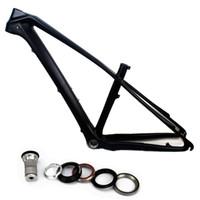 bicicletas de montanha de quadro de fibra de carbono venda por atacado-27.5er bicicleta de fibra de carbono quadro MTB 650B quadro de bicicleta de montanha de carbono 27.5 Sem decalques tamanho 15.5 Polegada BB BB92