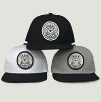 Wholesale rounded hat women online - Round Triangle Eye Snapback Caps Women Adjustable Baseball Cap Snapbacks Flat Peak Hip Hop Hats Ball Caps OOA5032