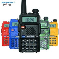 vhf radio uv 5r venda por atacado-BaoFeng UV-5R Walkie Talkie Profissional CB Rádio Baofeng UV5R Transceptor 128CH 5 W VHFUHF Handheld UV 5R Para A Rádio caça