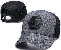 mode-riesen großhandel-Neueste Designer PP Schädel Kappen Casquettes De Baseball Cap Gorras Modemarke Baseball Hüte Rennen Kopfbedeckungen Riesen Knochen Sonnenhut Luxus Sonnenhut