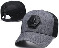 yeni kapak toptan satış-Yeni Tasarımcı PP Kafatası Casquettes De Beyzbol Şapkası Caps Gorras Moda Marka Beyzbol Şapkaları Yarışları Şapkalar Devler Kemik Güneş Şapka Lüks Sunhat
