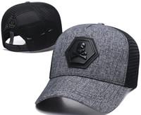 yeni kapak toptan satış-Yeni Tasarımcı PP Kafatası Kapaklar Casquettes De Beyzbol Şapkası Gorras Moda Marka Beyzbol Şapkaları Yarışları Şapkalar Giants Kemik Güneş Şapka Lüks Sunhat
