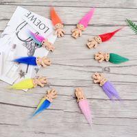 poupées pour garçons achat en gros de-Coloré Cheveux Troll Poupée Membres De La Famille Papa Maman Bébé Garçon Fille Leprocauns Barrage Trolls Jouet Cadeaux Heureux Amour Famille