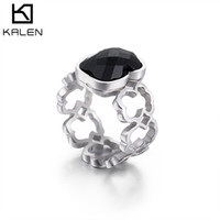 Wholesale Alternative Gifts - Ring Women ' s fashion small bear hollowed - out ring steel color bear ring new product ' s first multi - color alternative