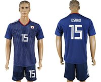 Wholesale cheap uniforms soccer jerseys - soccer jersey 2018 19 World Cup Japan OSAKO 15 camisetas de futbol home retro uniforms kit jerseys 2018 World Cup Jersey cheap custom