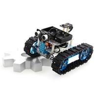 meilleures voitures en kit achat en gros de-Makeblock DIY Kit Voiture Arduino Robot Starter Kit Bleu (Version IR) Meilleur Cadeau pour Enfant Enfant Jouet