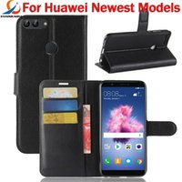 Wholesale huawei honor casing - For Huawei Y9 2018 Y6 Honor 7A 7C Y7 prime 2018 P Smart Enjoy 7S P20 lite Plus Litchi Skin Flip Wallet Leather Case Stand Card Holder Cover