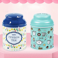 metal tea tin containers Australia - 18 Style Flower Design Metal Sugar Coffee Tea Storage Tin Box Jar Container Random Color Candy Sealed Candy Cans Box