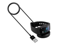 taban yerleştirme istasyonu toptan satış-Fit 2 SM R360 USB Şarj Samsung için Dock Şarj Cradle Fit2 Pro SM-R360 Akıllı İzle Band Kablo Kordon Şarj Baz Istasyonu