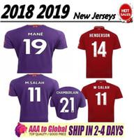 2e99412580338 Liverpool 2018 2019 nueva edición de recuerdos de la temporada M SALAH  Camisetas de fútbol 18 19 GERRARD MANE FIRMINO HENDERSON STURRIDGE Camiseta  de fútbol