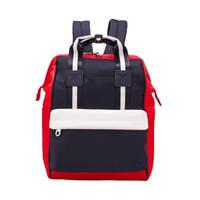 Wholesale men bag resale online - 2018 Fashion Designer Backpack with Letters Printed Brand School Bags Zipper Shoulder Bag For Women Preppy Style Men Luxury Backpacks