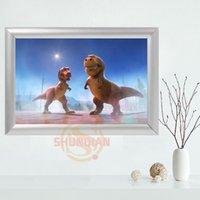 Wholesale Dinosaur Paint - Custom The Good Dinosaur Canvas Frame Aluminum Alloy Painting Fabric Frame Home Decor Canvas Poster YJW#2