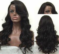 ingrosso fronti brasiliani in pizzo-Cheap parrucche glueless piena del merletto per le donne nere parrucche brasiliane del fronte del merletto dei capelli umani con i capelli umani vergini parrucche dei capelli umani