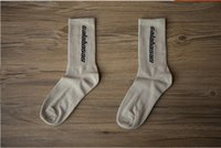 Wholesale women ankle socks - 3 Colors Calabasas Crew Socks Cotton Kanye West Men Women Socks Casual stockings Skateboard Stockings