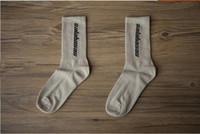 Wholesale crew socks colors - 3 Colors Calabasas Crew Socks Cotton Kanye West Men Women Socks Casual stockings Skateboard Stockings