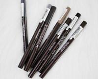 Wholesale dark brown eyes makeup online - Korea Etude House Waterproof Eyebrow Pencils Dark Brown Black Double end Eyes Makeup Eye Brow Pen With Brush Cosmetics colors