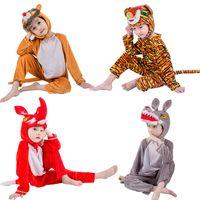 mascote dos leões venda por atacado-Jinxuan Fox Lobo Tigre Leão Urso Panda Crianças Crianças Adulto Animal Traje Macacão Stage Show Partido mascote