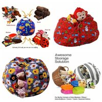 Wholesale Round Baby Beds - 43 Colors 61cm Kids Storage Bean Bags Plush Toys Beanbag Chair Stuffed Room Mats Portable Clothes Storage Bag Baby Play Mat CCA8483 20pcs