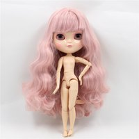 Wholesale nude dolls small - Dolls Accessories Dolls Free shipping Nude ICY Doll 260BL1063 2352 Grey mix Pink hair azone body small chest 1 6 shake head gift toy