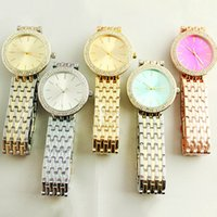 Wholesale brand watches for women gold for sale - Group buy Ultra thin rose gold woman diamond flower watches brand luxury nurse ladies dresses female Folding buckle wristwatch gifts for girls good