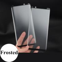 galaxy note protector mate al por mayor-Protector de pantalla mate de cristal templado 3D para Samsung Galaxy Note 9 8 S9 Plus S8 Caso amistoso de vidrio esmerilado película protectora