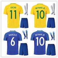 Wholesale Camisetas Futbol Thai Quality - BRASIL BRAZIL CAMISA DE FUTEBOL NEYMAR JR JESUS WILLIAN OSCAR soccer jersey camisetas futbol thai thailand quality football jerseys