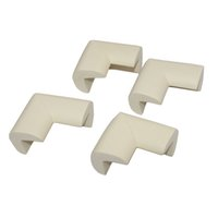 Baby Furniture Corner Safety Bumper Security Table Desk Corner Edge U Type  Protector Guard Cushion Softener 4 Pcs White