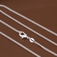 Wholesale charms prata for sale - Group buy SMTCAT Women s mm side chain stamped silver plated Short Long Fit Charms necklaces kolye Colar de Prata