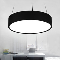 Wholesale modern minimalist chandeliers - Round Pendant LED Chandelier office modern minimalist fashion study restaurant hanging line lighting lamps commercial lighting