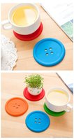 multi drink cup holders Australia - Multiple colors Silicone Cup mat Cute Colorful Button Cup Coaster Cushion Holder Drink Cup Placemat Mat