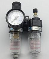 reguladores de presion de aceite al por mayor-Compresor del aerógrafo del filtro de la trampa del separador de aceite / agua del regulador de presión de aire