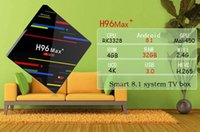Wholesale android tv box 4gb for sale - Hot Selling H96 MAX plus GB GB RK3328 Android TV Box k IPTV Media Player