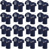 Wholesale mens red star t shirt - Mens American League T-shirts George Springer Jose Altuve J.D. Martinez Chris Sale Mookie Betts Aaron Judge 2018 All-Star Game Jerseys