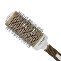 Wholesale types hair curlers - Professional Temperature Color Change Ceramic Iron Radial Round Hairdressing Barrel Curler Brushes Comb Hair Salon Styling