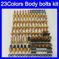 Wholesale 96 Kawasaki Ninja - Fairing bolts full screw kit For KAWASAKI NINJA ZXR400 91 92 93 94 95 96 ZXR-400 ZXR 400 1991 95 1996 Body Nuts screws nut bolt kit 23Colors