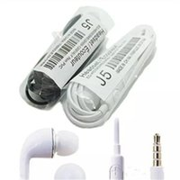 Wholesale cell phone note3 - in 2018 Earphones headphones headsets J5 Earphone For Samsung With Mic For Samsung GALAXY S2 S3 S4 Ace N7100 Galaxy S5 S4 Note3 S5830i
