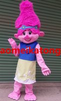 Wholesale Dolls Sales - Poppy Dream TROLLS Ugly doll Mascot Costume Adults Branch Birthday party dress fancy with factory direct sale